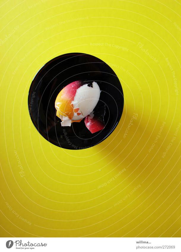 fußball-EM 2012 ernährungskonzept rot Farbe schwarz gelb Deutschland gold Lebensmittel Ernährung Ostern rund Frühstück Teller Ei Perspektive Feste & Feiern Geschirr