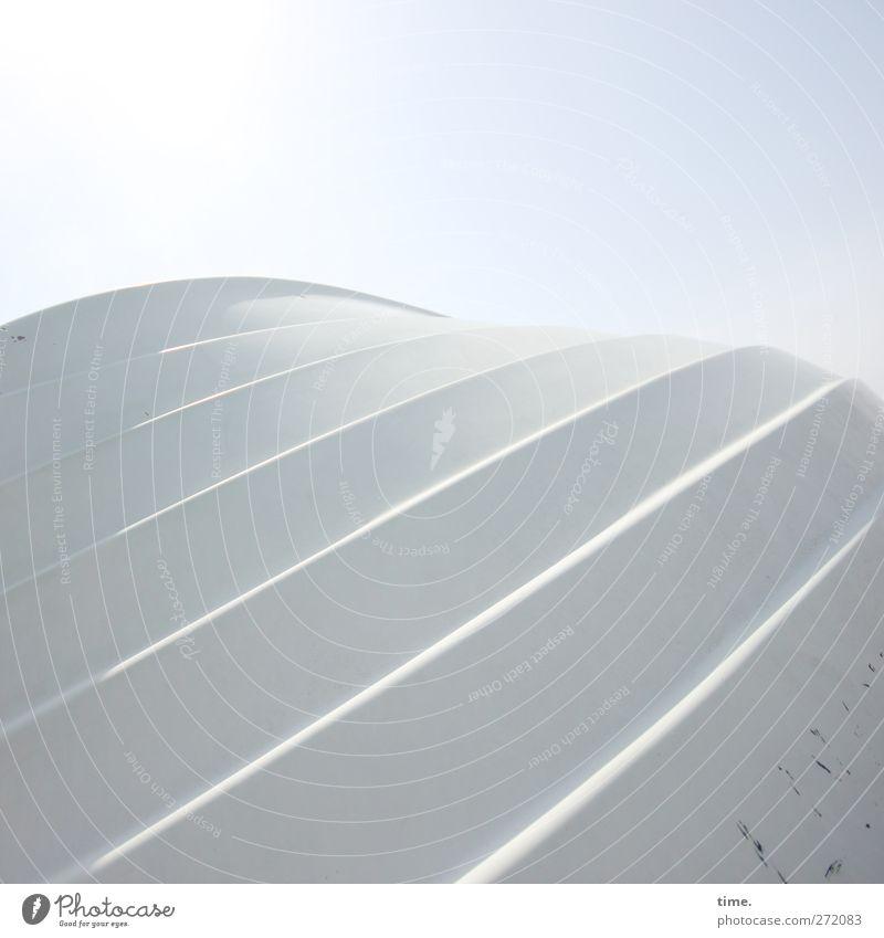 Hiddensee | Gentle Little Giant Himmel Schönes Wetter Verkehrsmittel Schifffahrt Fischerboot liegen skurril entgegengesetzt Schiffsrumpf Wasserfahrzeug Farbfoto