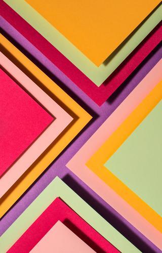 Lebhafte Farben Palette Papierdesign. Geometrische Formen. Design Tapete Handwerk Linie Streifen dunkel braun geometrisch Hintergrund graphisch beige Cappuccino