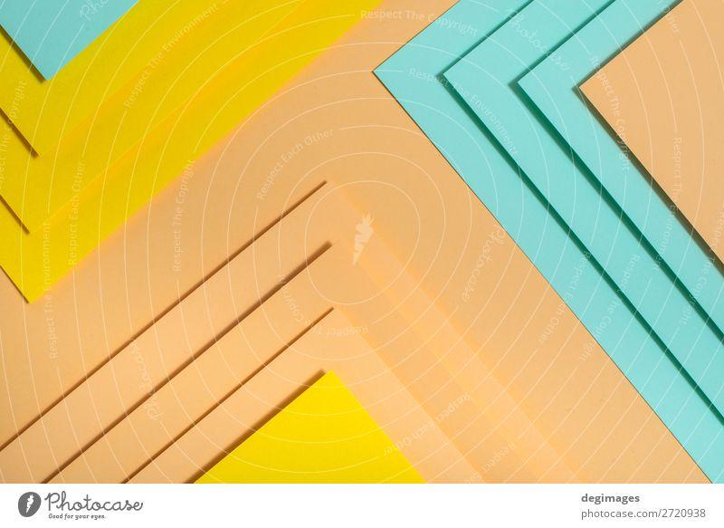 Buntes Polygonpapier-Design. Pastelltöne geometrische Formen Tapete Kunst Papier Streifen retro blau gelb grün rosa Farbe Hintergrund graphisch ine farbenfroh