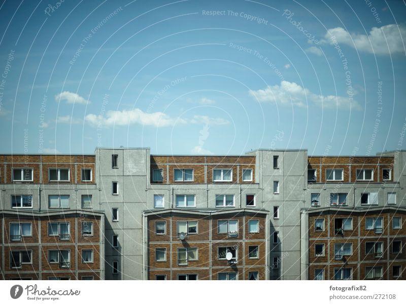 querhausansicht | himmel über berlin Berlin Berlin-Mitte Bundesadler Europa Stadt Hauptstadt Stadtzentrum Haus Hochhaus Bauwerk Gebäude Architektur Fassade
