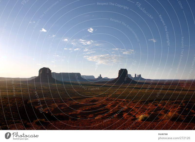 monument valley Umwelt Natur Landschaft Urelemente Erde Sand Luft Himmel Wolken Sonnenlicht Sommer Schönes Wetter Wärme Dürre Felsen Schlucht Begeisterung