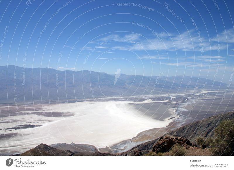 death valley Natur Landschaft Urelemente Himmel Klima Schönes Wetter Dürre USA Kalifornien Nevada Nationalpark Tod ruhig Angst Wüste Salz Berge u. Gebirge