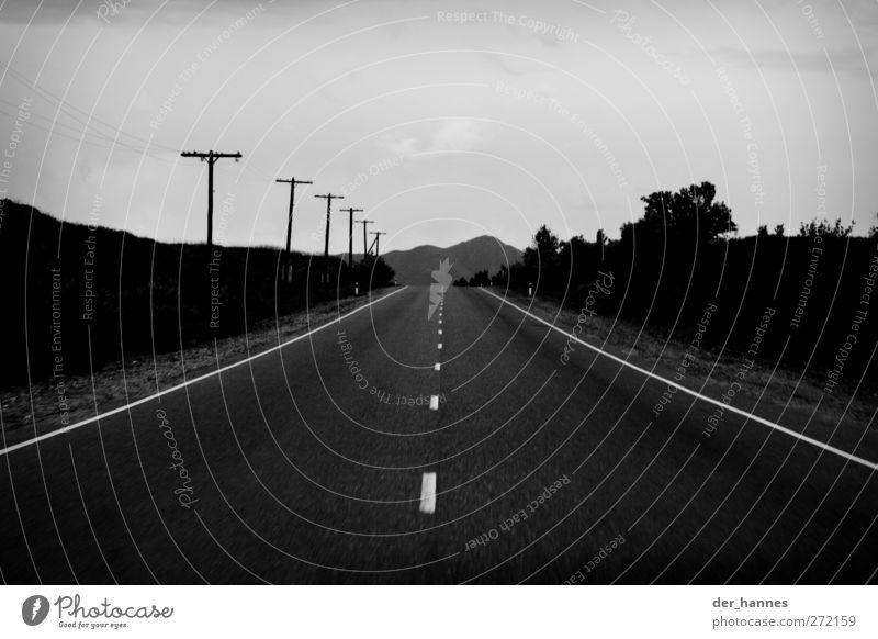 horizonte Straße Horizont Verkehr Kabel fahren Hügel Landstraße