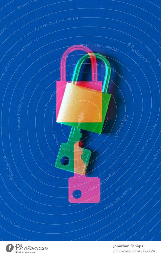 Schloss und Schlüssel als Symbole für die Ver- und Entschlüsselung gdpr Business Konformität Computer Textfreiraum Datenschutz verschlüsselt gdpr-konformität