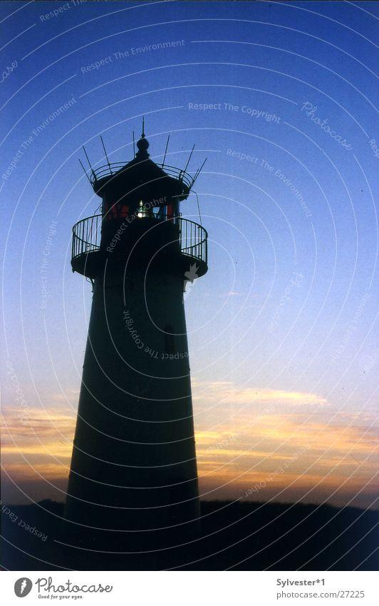 Leuchtturm_Sylt Deutschland Europa Leuchtturm Abenddämmerung Sylt