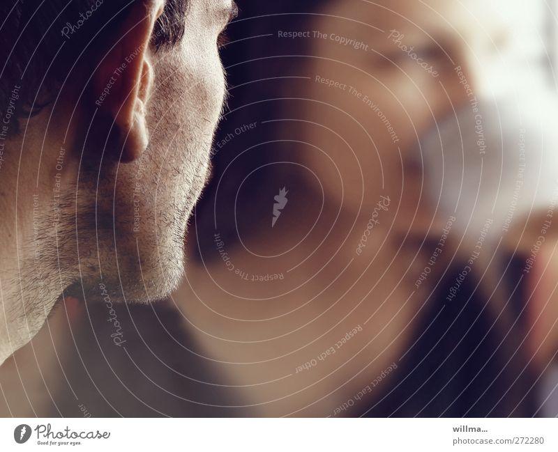 bleib Mensch Frau Jugendliche Mann Junge Frau Junger Mann Liebe Gefühle Paar Zusammensein beobachten Kommunizieren trinken Sehnsucht Kontakt Ohr