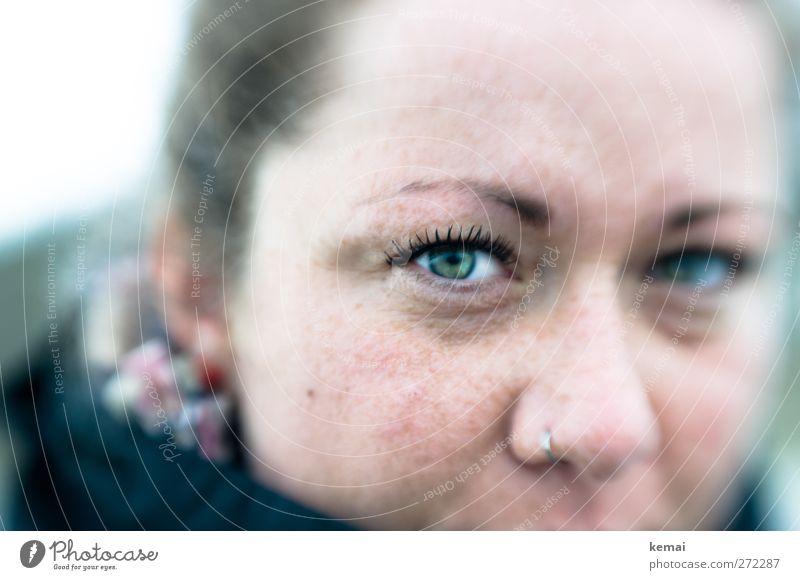 Hiddensee   Schau mir in die Linse, Baby Mensch Frau Jugendliche schön Erwachsene Gesicht Auge Leben Junge Frau hell Nase 18-30 Jahre Lifestyle Coolness Mut