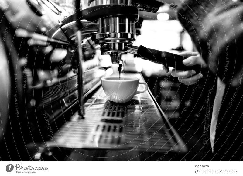 Morgenkaffee 14 Getränk Heißgetränk Kakao Kaffee Latte Macchiato Espresso Becher Kaffeepause Kaffeemaschine Café Kantine Lifestyle elegant Stil Freude Leben