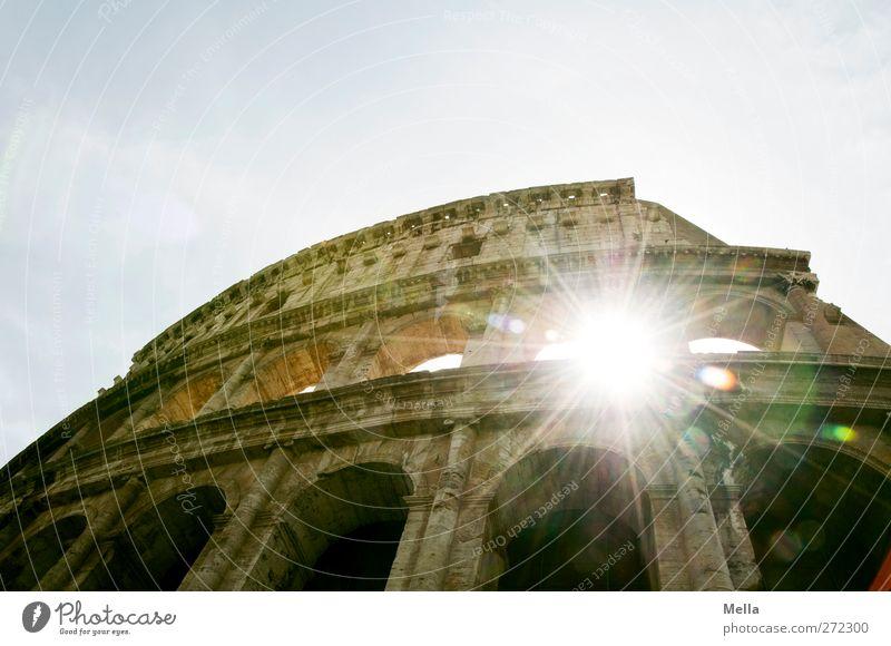 Der Koloss Ferien & Urlaub & Reisen Tourismus Sightseeing Städtereise Architektur Kultur Rom Italien Europa Stadt Hauptstadt Menschenleer Ruine Bauwerk