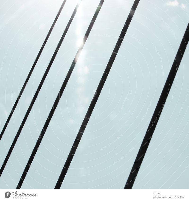 Hiddensee   HochSpannung Himmel Brücke Stahlkabel sportlich Erfolg gigantisch modern Fortschritt Zufriedenheit Kommunizieren Ordnung Präzision Stolz planen