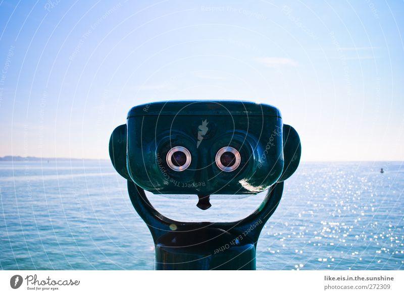 WALL.E??? blau Ferien & Urlaub & Reisen Sommer Meer ruhig Ferne See Wellen glänzend Freizeit & Hobby Tourismus Ausflug beobachten Schönes Wetter Nordsee Schweiz