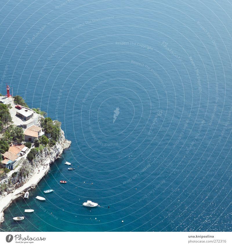marina Lifestyle Schwimmen & Baden Ferien & Urlaub & Reisen Sommer Natur Landschaft Wasser Felsen Küste Meer Adria Kroatien Dorf Haus Hafen Leuchtturm