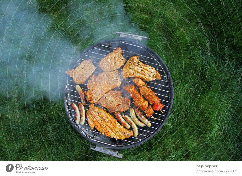 wann wird's mal wieder richtig sommer... Wiese Ernährung Dinge Speise Rauch lecker Camping Fleisch Picknick Grill Wurstwaren Bratwurst Ferien & Urlaub & Reisen