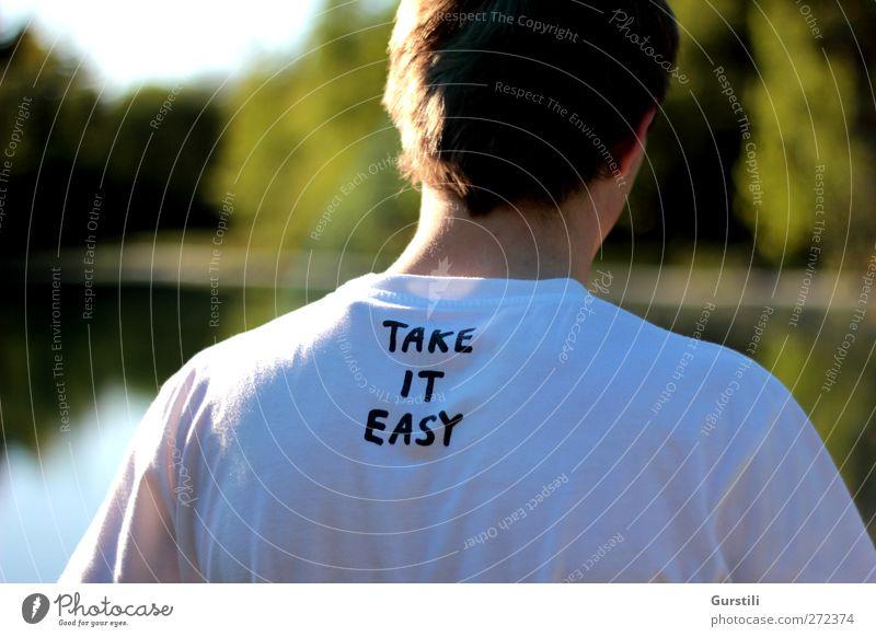 take it easy Sommer Feierabend maskulin atmen Denken genießen positiv Zufriedenheit Lebensfreude Coolness Optimismus Gelassenheit geduldig ruhig Erholung