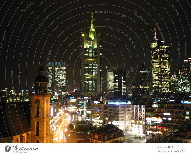 night live Architektur Hochhaus Frankfurt am Main Nachtleben