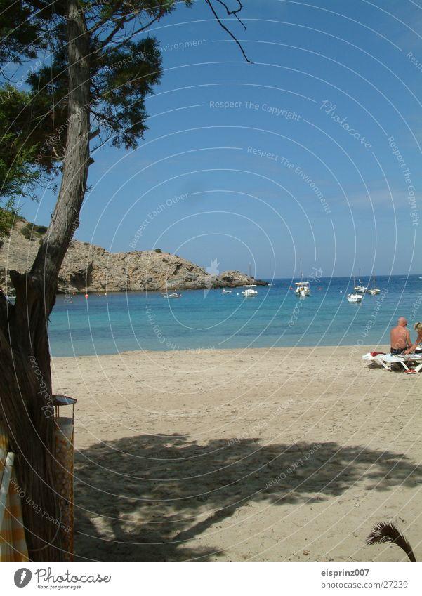 beach romanze Wasser Meer Strand Bucht Segelboot Ibiza