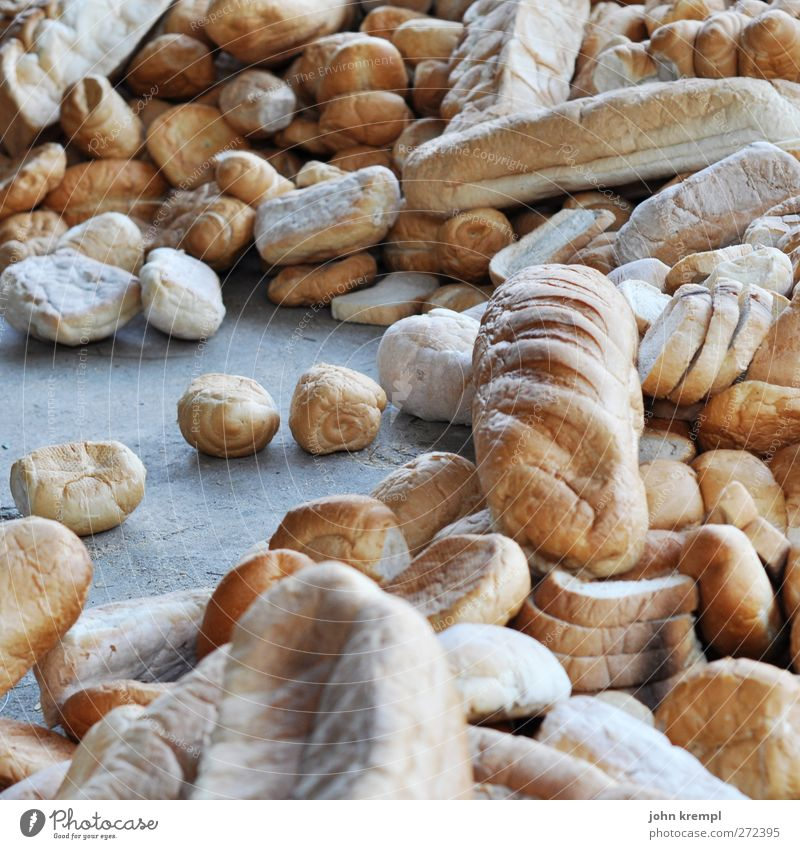Feed the World alt braun Lebensmittel Ernährung trocken Appetit & Hunger lecker Brot Brötchen Vegetarische Ernährung dehydrieren verschwenden Hemmungslosigkeit Backwaren Genusssucht wegwerfen