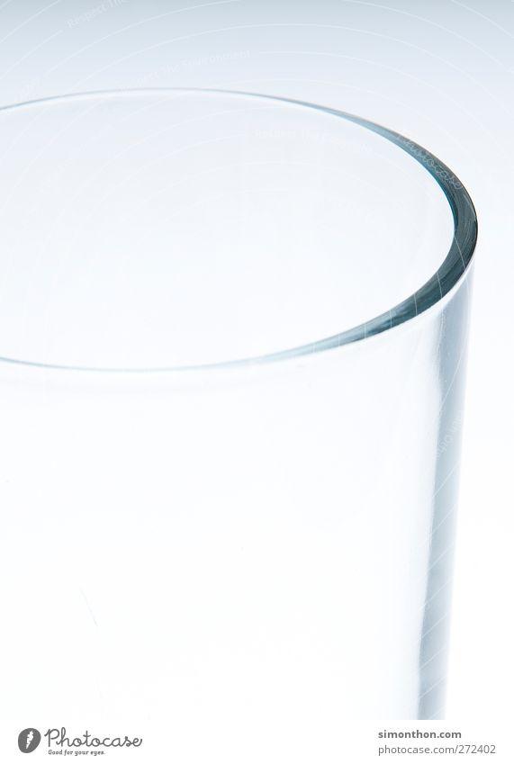 Glas Trinkwasser Armut leer Getränk trinken Durst sparsam halbvoll