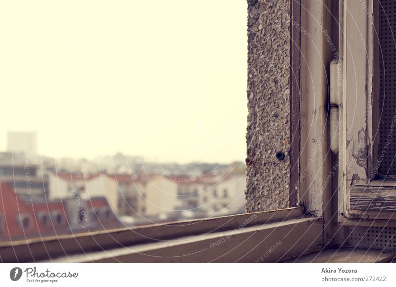 Watching the World outside Stadt Hauptstadt Stadtzentrum Skyline Haus Hochhaus Gebäude Mauer Wand Fenster Dach Stein Holz Metall beobachten Blick