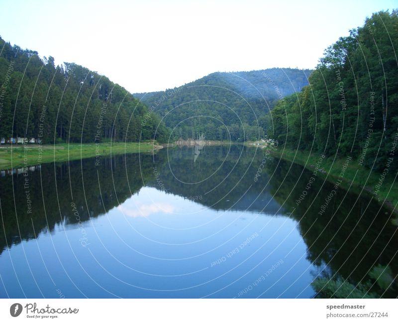 Stausee See Reflexion & Spiegelung Schlesien Sommer Wasser Berge u. Gebirge Polen