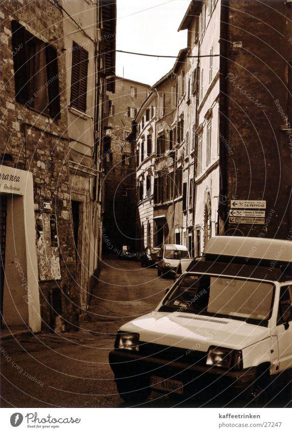 Perugia - Italien Gasse Tourist Attraktion Europa mediteran Sepia Schwarzweißfoto