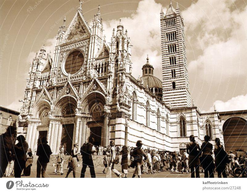 Sienna - Italien Europa Toskana Italien Tourist Dom Sepia Marmor Attraktion Siena