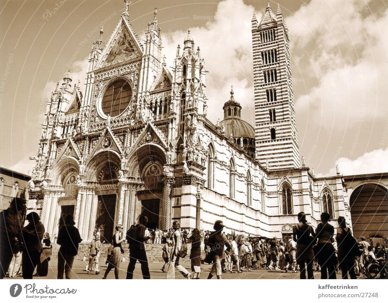 Sienna - Italien Europa Toskana Tourist Dom Sepia Marmor Attraktion Siena