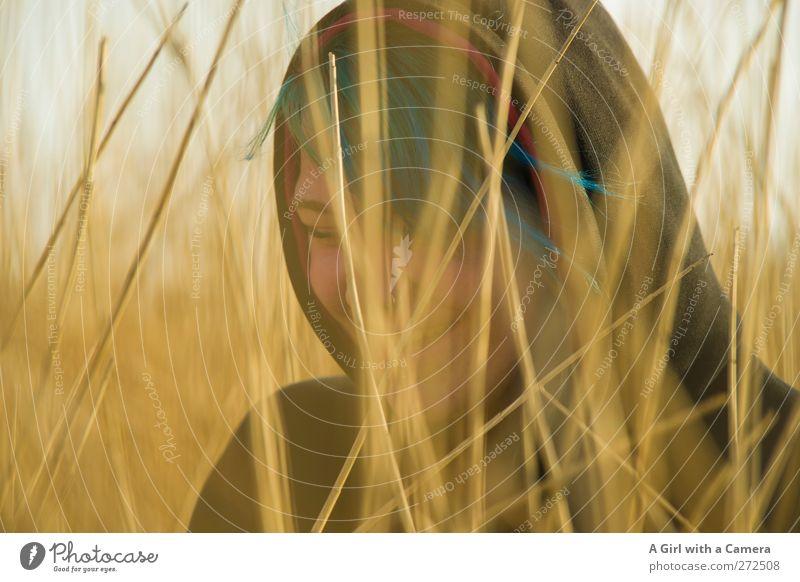 Hiddensee l unbegründet fies Mensch Natur Jugendliche schön Erwachsene Umwelt Landschaft gelb feminin Leben Wärme Glück lachen Junge Frau Gesundheit gold