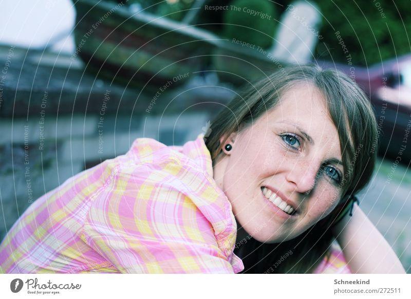 Nice Days Mensch Frau Jugendliche schön Freude Erwachsene Gesicht Auge feminin Leben Haare & Frisuren Junge Frau lachen Kopf 18-30 Jahre Haut