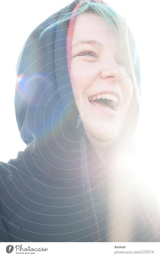 Hiddensee | Pure Freude Lifestyle Mensch feminin Junge Frau Jugendliche Erwachsene Leben Kopf Auge Nase Mund 1 18-30 Jahre Kapuze Haare & Frisuren Punk lachen