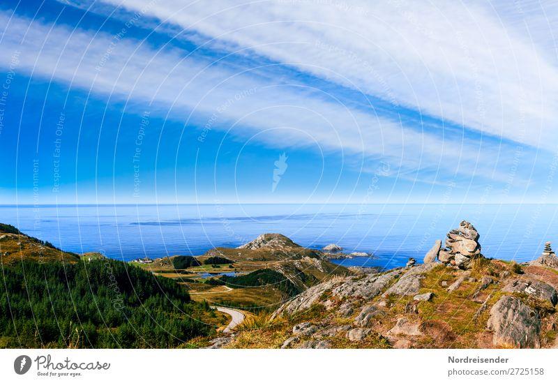 Westküste Norwegens Ferien & Urlaub & Reisen Tourismus Abenteuer Ferne Freiheit Natur Landschaft Urelemente Wasser Himmel Wolken Frühling Sommer Schönes Wetter