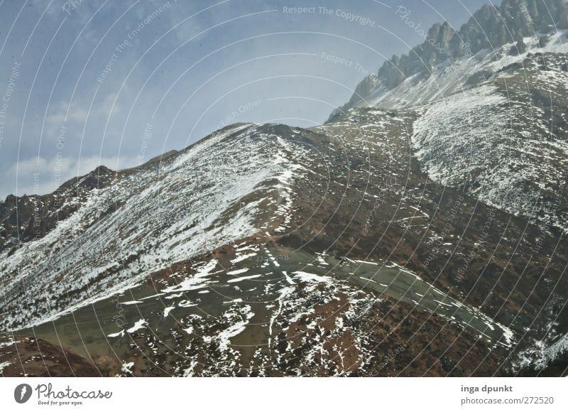 lebensfeindlich Umwelt Natur Landschaft Urelemente Winter Klima Eis Frost Schnee Gras Hügel Felsen Berge u. Gebirge Gipfel Schneebedeckte Gipfel Gletscher