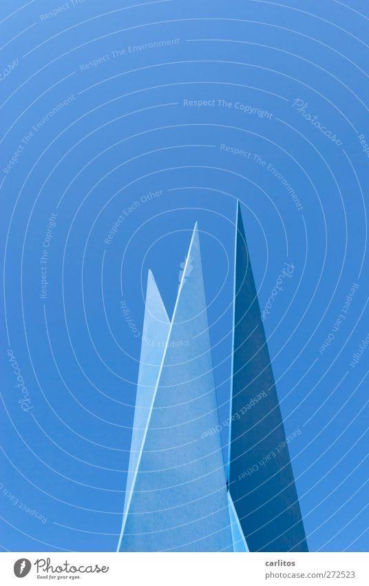 Spitzenfoto !! blau 3 Denkmal Stahl Skulptur Blauer Himmel Kunstwerk