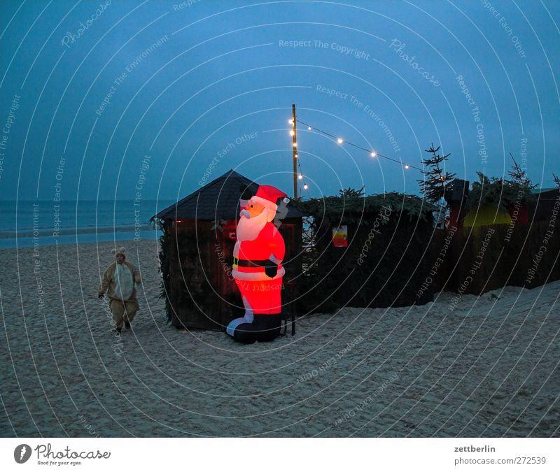 Ostern und Weihnachten fallen auf einen Tag Natur Weihnachten & Advent Strand Winter Umwelt Landschaft Küste Feste & Feiern Wetter Wellen Klima gut Weihnachtsmann Ostsee Klimawandel Feiertag