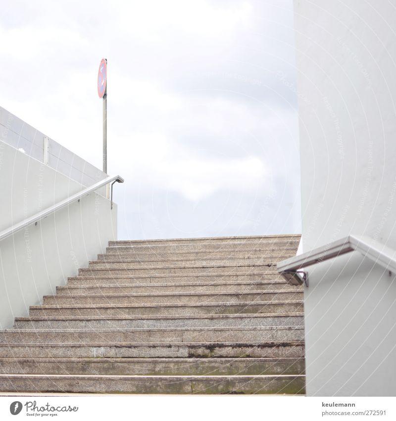 Treppe Stadt Wand Mauer hell authentisch stehen Tunnel Stadtzentrum