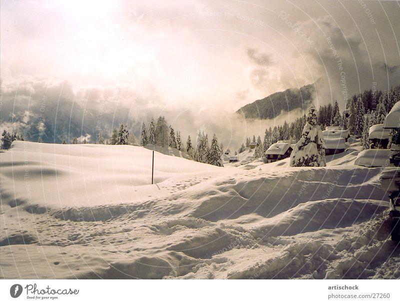 Wintertraum Stimmung Wolken Berge u. Gebirge Schnee Abenddämmerung