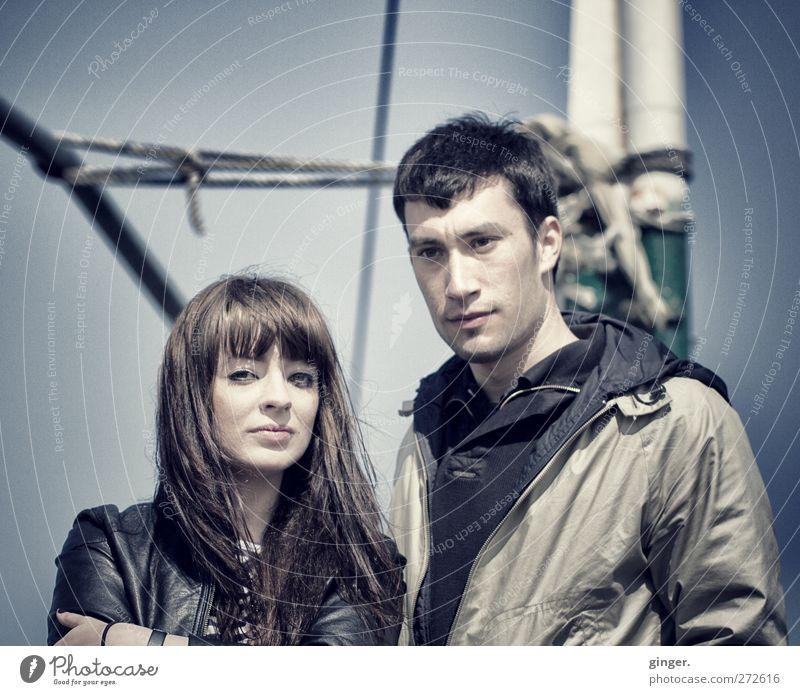 Hiddensee | Freundschaft Mensch Jugendliche schön Junge Frau Junger Mann 18-30 Jahre Erwachsene Leben feminin Wasserfahrzeug Stimmung maskulin nachdenklich