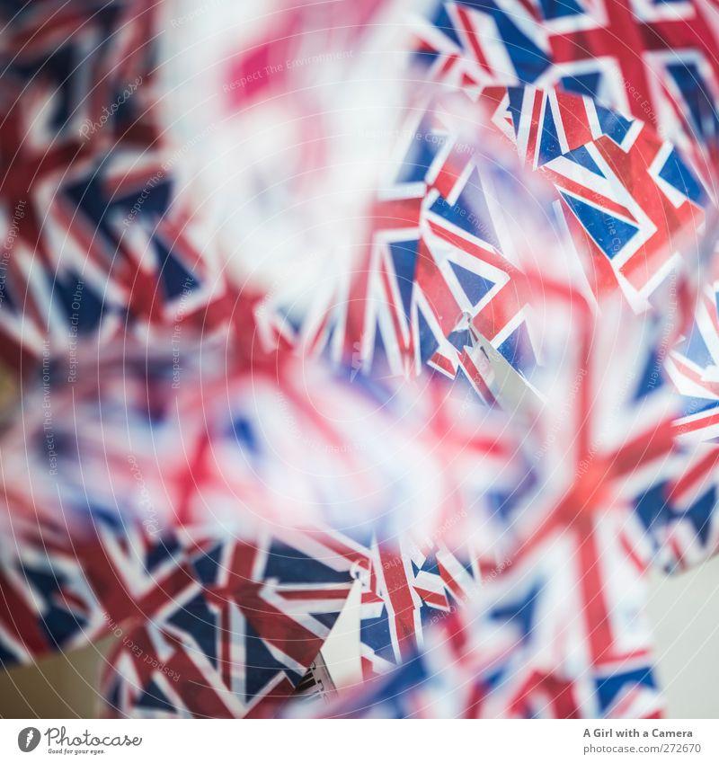 Union Jacks Zeichen Fahne blau rot weiß Patriotismus Nationalflagge Englisch Symbole & Metaphern Farbfoto mehrfarbig Innenaufnahme Nahaufnahme Detailaufnahme