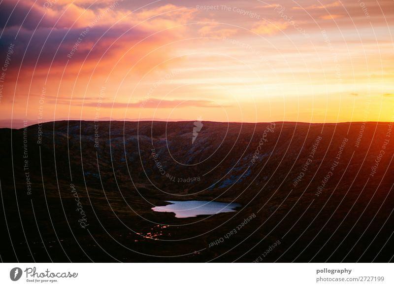 Sonnenaufgang hinter den Bergen in irland Reisefotografie Irland Wolken roadtrip Republik Irland Außenaufnahme Himmel Landschaft Natur Berge u. Gebirge