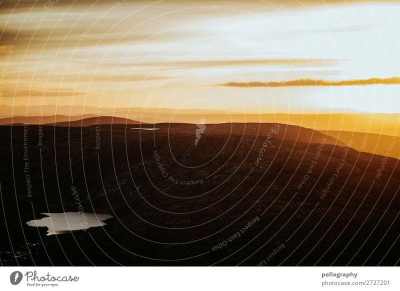 Guten Morgen in Irland Sonnenlicht Wetter Wolken Natur Landschaft Berge u. Gebirge Abenteuer Fernweh erleben Freiheit Klima Tourismus Umwelt Tag Menschenleer