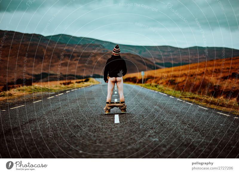 Bild zum Nachdenken Popo Landschaft Hintern Gesäß Lifestyle Irland Berge u. Gebirge Natur Ferien & Urlaub & Reisen social distancing Freizeit & Hobby Ferne