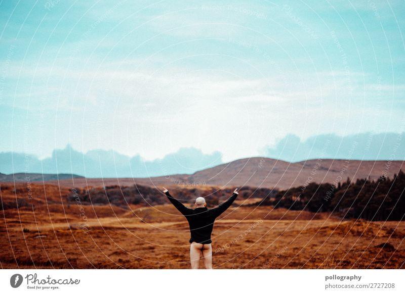 ass up Lifestyle Stil Freude Freizeit & Hobby Ferien & Urlaub & Reisen Tourismus Ausflug Abenteuer Ferne Freiheit maskulin Erwachsene Gesäß 1 Mensch Natur