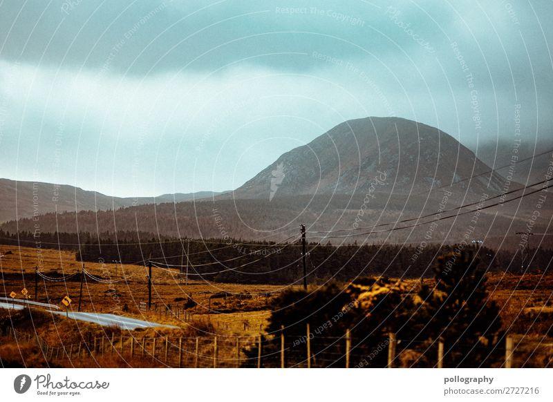 Nature Landschaft Wolken Berge u. Gebirge Straße Herbst Umwelt Tourismus Freiheit Wetter Abenteuer Klima Fernweh Strommast erleben