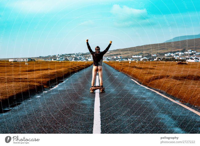Ass Lifestyle Stil exotisch Freizeit & Hobby Abenteuer Ferne Freiheit Sightseeing Städtereise maskulin Mann Erwachsene Gesäß 1 Mensch Straße genießen stehen