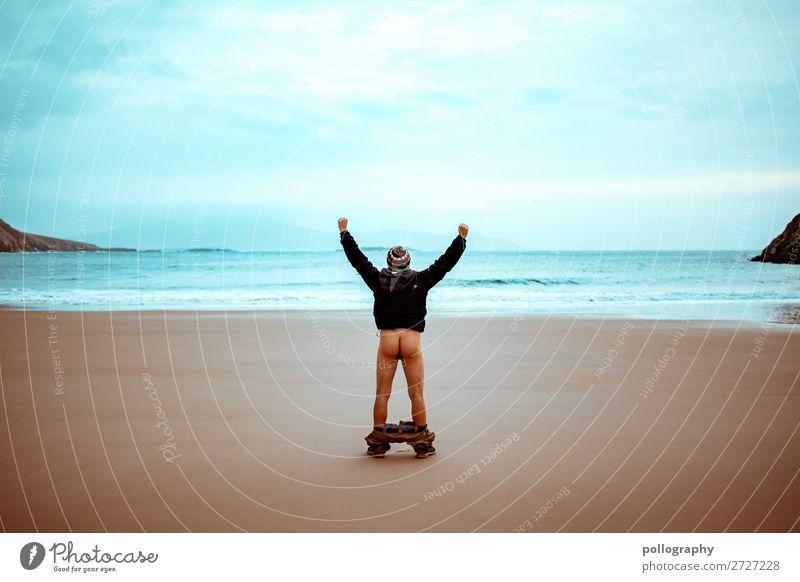 Ass Lifestyle Stil exotisch Freizeit & Hobby Abenteuer Freiheit maskulin Mann Erwachsene Gesäß 1 Mensch Natur Landschaft Sand Wasser Himmel Wolken Herbst Meer