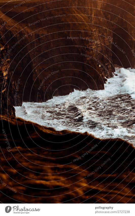 unruhe Freizeit & Hobby Ferien & Urlaub & Reisen Tourismus Abenteuer Sightseeing Insel Natur Wasser Herbst Wetter Wind Felsen Meer Klippe Cliffs of Moher