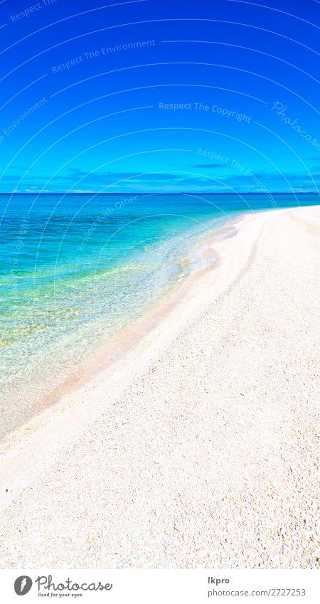 von der Küste wie ein Paradieskonzept und entspannen Sie sich. Rangun Tiputa Meer Französisch Atoll Polynesien Natur Insel Pazifik Inselkette tuamotu Landschaft