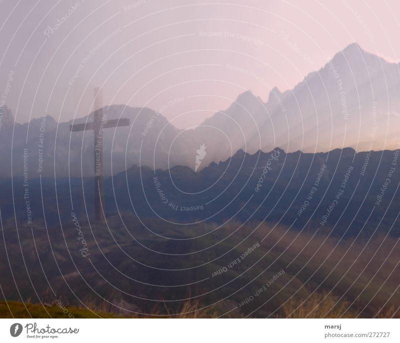 zoom zoom Ferne Freiheit Berge u. Gebirge wandern Natur Landschaft Himmel Wolkenloser Himmel Horizont Sonnenaufgang Sonnenuntergang Sommer Herbst Schönes Wetter