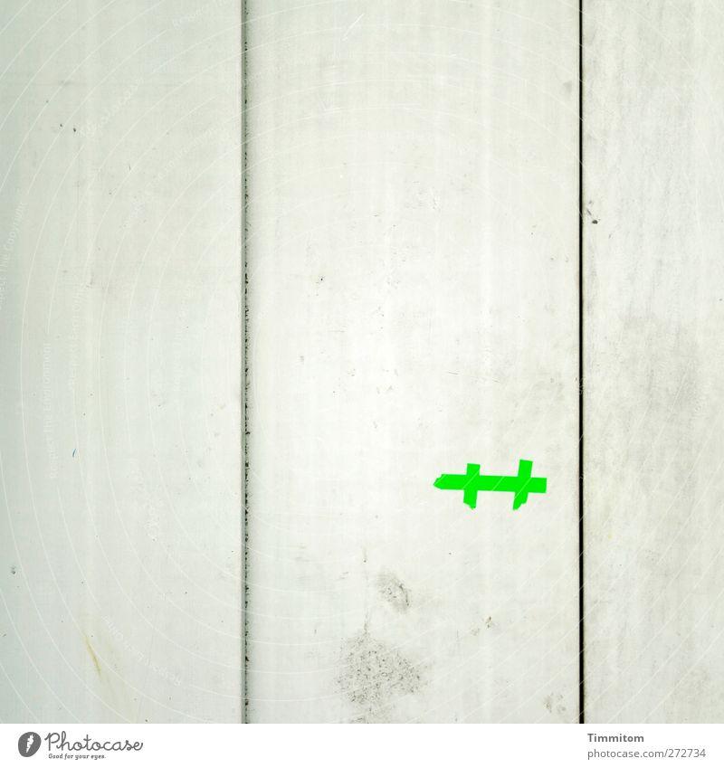 Karl in Monnem: Ahhh! grün Gefühle grau Fassade ästhetisch einfach Kunststoff Zeichen Fuge Erwartung Mannheim